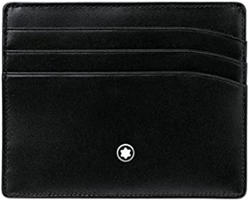 Montblanc Meisterstuck Black Leather Pocket Credit Card Holder