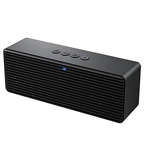 LENRUE Bluetooth Speaker V4.2 Portable Wireless Speakers with HD Sound, 16H Playtime, Built-in Mic for iPhone/Andriod/PC/Laptop Support USB/TF Card/AUX (Light Black)