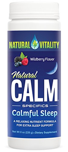 Natural Vitality Natural Calm Calmful Sleep Magnesium Anti Stress Extra Sleep Support  Organic  Wildberry  8 Oz