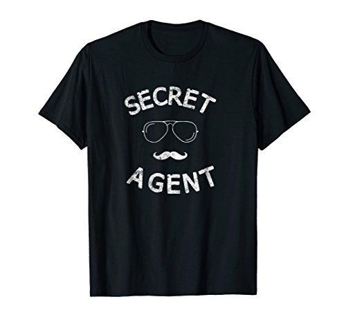 Secret Agent Halloween Funny Costume Tee shirt