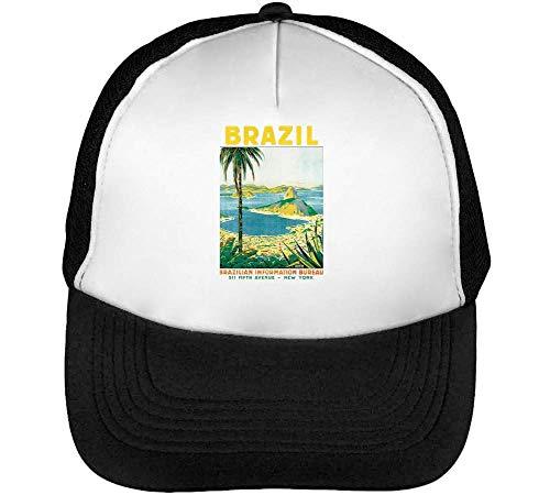 Rio De Janeiro Brazil Gorras Hombre Snapback Beisbol Negro Blanco