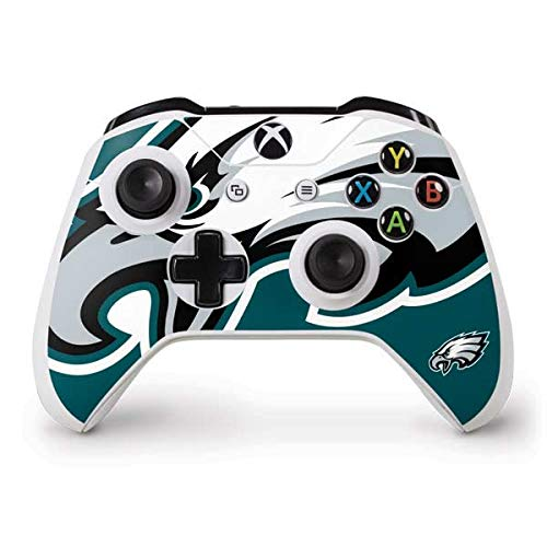 Skinit Philadelphia Eagles Large Logo Xbox One S Controller Skin - Officially Licensed NFL Gaming Decal - Ultra Thin, Lightweight Vinyl Decal Protection