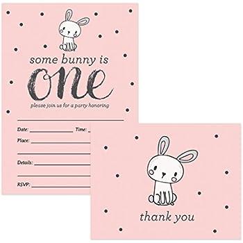 Amazon 1st Birthday Invitations Thank You Cards Baby Girl