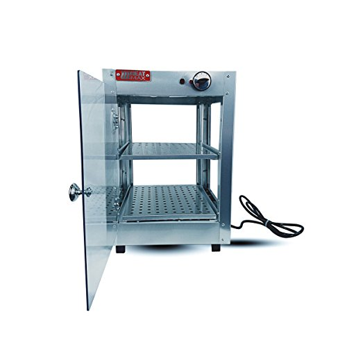 HeatMax Commercial Food Warmer Pizza Pastry Hot Countertop Display Case 14x14x20 by HeatMax