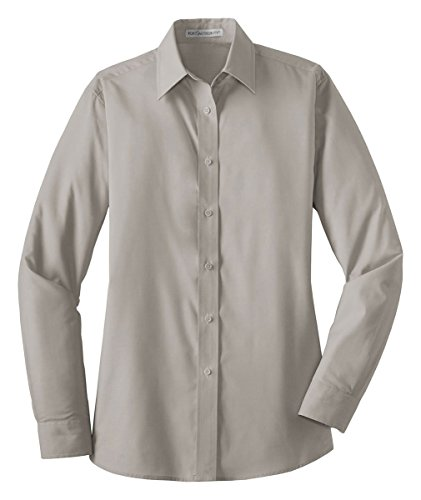 Port Authority Ladies Long Sleeve Value Poplin Shirt. L632 (Value Poplin Shirt)
