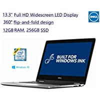 2017 Newest Dell 13.3 7000 Series Full HD Touchscreen 2-in-1 laptop Intel 7th Gen Kaby lake i7 7500U 12GB DDR4 Ram 256GB Solid State Drive