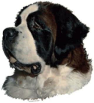 World Stickers Schwandt Heimtierbedarf 13029 Aufkleber 2 Stück Ca 140 X 160 Mm Für Warnschild Bernhardiner Haustier