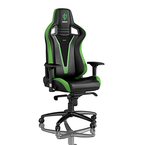 noblechairs Epic Gaming Chair - Office Chair - Desk Chair - PU Leather - Sprout Edition - Black/Green noblechairs