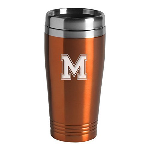 University of Memphis - 16-ounce Travel Mug Tumbler - Orange ()