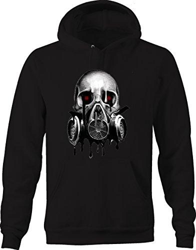 - Melting Skull Gas Mask Blood Red Eyes Sweatshirt - 3XL