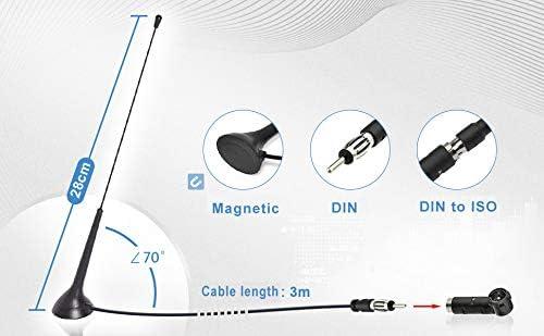 DIN Socket to ISO Adapter for Cars Radio Trucks Universal Multiple-Way Receiver Tuner SUPERBAT Car Radio Antenna FM Antenna Radio Magnetic Fastening Antenna