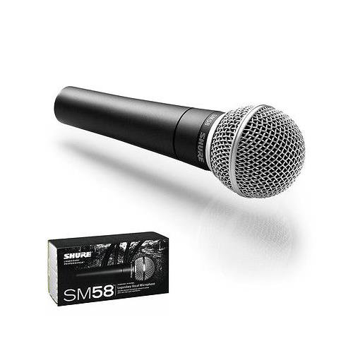 Shure SM-58 Cardioid Dynamic Vocal Microphone (Open Box) (Microphone Dynamic Cardioid Shure)