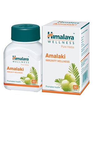 bottle containing amalki immunity tablets manufactured by himalaya