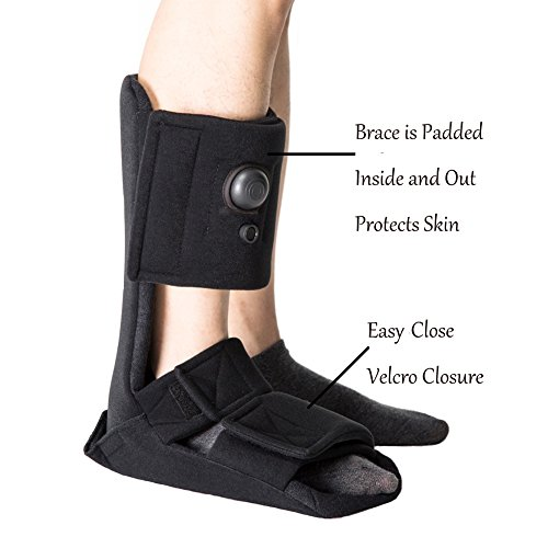 Plantar Fasciitis Night Splint, Adjustable Soft Medical Pneumatic Brace Boot for Pain Relief Black Large by Kefit (Image #5)