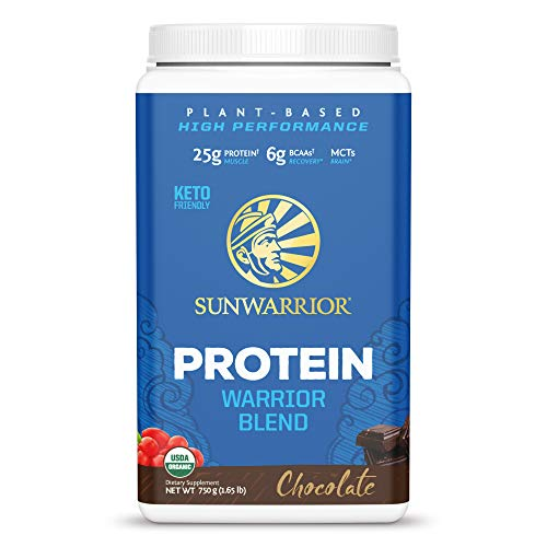Sunwarrior Warrior Blend Vegan Plant Protein Powder with BCAAs and Pea Protein