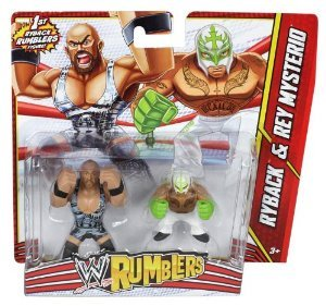 Wwe Rumblers Ryback And Rey Mysterio Action Figure, 2 Pack by WWE