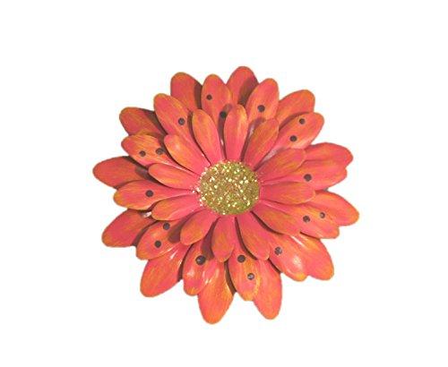 Fuchsia Polkadot Gerbera Daisy Magnet - Set Of 3