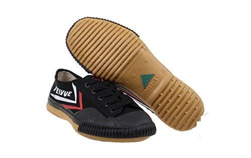 Feiyue Kungfu Martial Arts Taichi Trainer Shoes - For Men and Women (black, 45(men's 11))