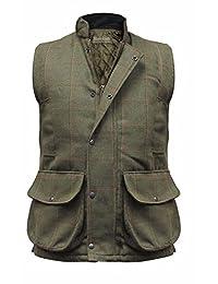 Men's Hereford Tweed Gilet Bodywarmer Hunting Shooting Fishing Vest Country Waistcoat