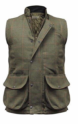 81f02b2a Stormkloth Men's Hereford Tweed Gilet Bodywarmer Hunting Shooting Fishing  Vest Dark Tweed Large