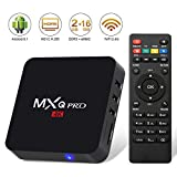 Android 8.1 TV Box,2018 Update Edition Leelbox MXQ PRO Smart Android TV Box 2GB RAM 16GB ROM Quad Core Supporting 4K (60Hz) Full HD/H.265/WiFi