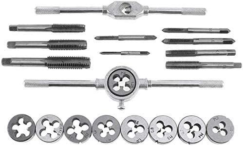 SILOLA 20Pcs Tap Dies Set 1/16''-1/2'' NC Screw Thread Plugs Faucet Carbon Steel Hand Screw Faucet Hand Tools