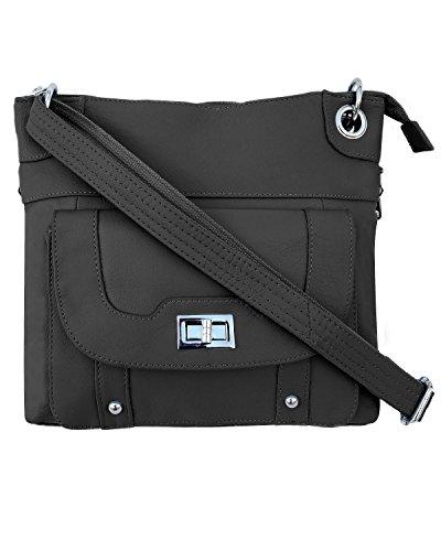 Ladies' Gun Concealment Crossbody Bag Black
