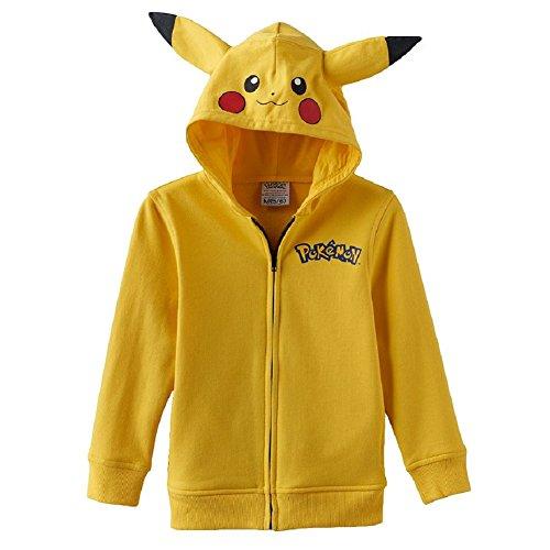 [Pokemon Little Boys' Pikachu Costume Hoodie Jacket L(7)] (May Costume Pokemon)