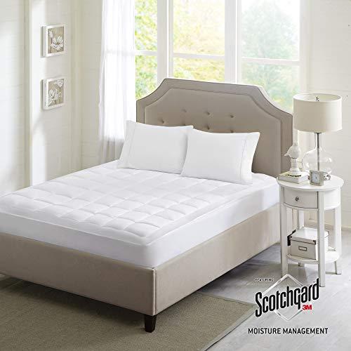 (Sleep Philosophy Highline 3M Mattress Protector Microfiber Bed Cover, Full, White)