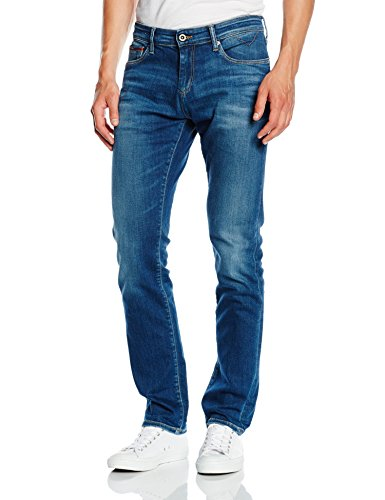 Hilfiger Denim Herren Slim Jeanshose Scanton MIDC, Gr. W36/L32, Blau (MID COMFORT 991)