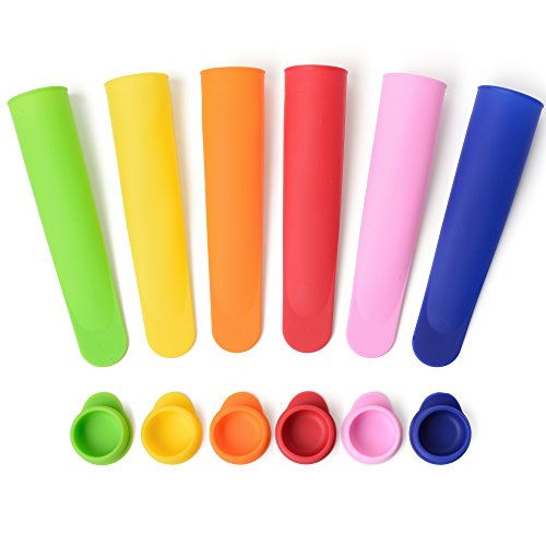 Sunsella Premium Silicone Popsicle - Ice Pop Molds - Ice Pop Maker Metal