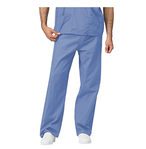 LEADERTUX Unisex Medical Apparel Doctor Nurse Reversible Uniform Scrub Pants Bottom XS-3XL (Extra Small, Pants_Light Blue)