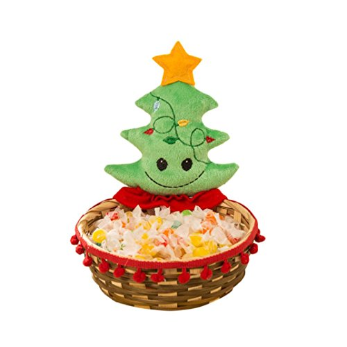 BSGSH Christmas Candy Sweety Fruit Storage Basket - Cute Santa Claus/Christmas Tree/Snowman/Elk Candy Storage Basket for Festive Party Home Decor (Multicolor|Christmas Tree)