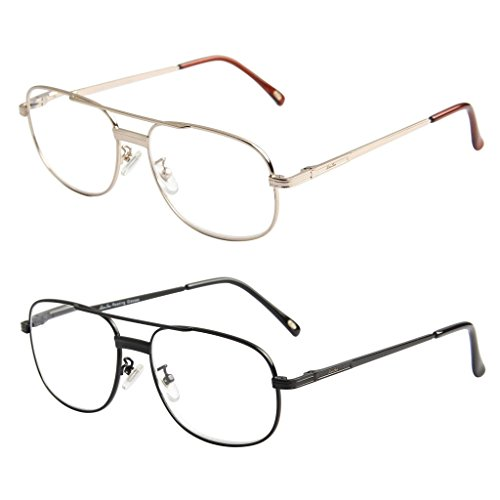 LianSan Designer Womens Mens Metal Full Frame Reading Glasses Large Spring Hinged Arms Fashion Eyeglasses 1.0 1.5 2.0 2.5 3.0 3.5 4.0 L3690