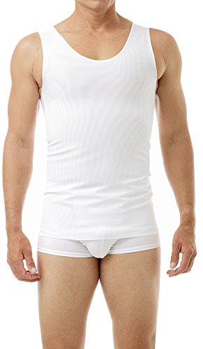 (Cotton Lined Power Chest Binder Tank White Medium )