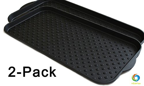 nGenius Recycled Plastic Boot Tray & Utility Mat, 30in x 15in - 2 - Tray Large Utility
