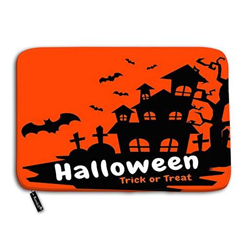 Modern Halloween Felt Door Banner - Decorative Felt Floor Mat with Non-Skid