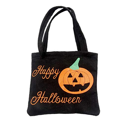 (Sizet Halloween Children's Sweet Pumpkin Bucket for Trick or Treat 3D Gift Candy Tote Bag)