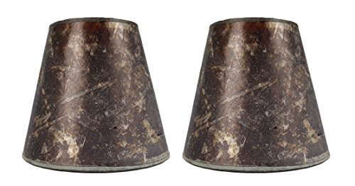 Urbanest Set of 2 3-inch by 5-inch by 4.5-inch Mica Chandelier Shade, Amber