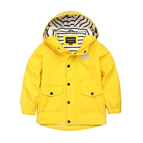 Rokka&Rolla Boys' Lightweight Waterproof Hooded Rubberized Rain Jacket Raincoat Windbreaker ()