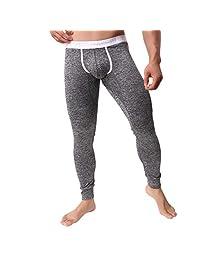Mens Pants Fitfulvan Autumn Winter Comfortable Thermal Warm Fitting Bottompants Leggings Pants