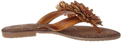 Mustang 3125-801-307, Sandalias de Punta Descubierta para Mujer Marrón (307 Cognac)