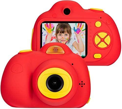子供のためのデジタルカメラ、1080P HDビデオカメラミニビデオカメラ子供と3-7歳の少年少女のための2インチ液晶画面ベスト8MPクリエイティブギフト、レッド(16ギガバイトのメモリカードが含まれています)