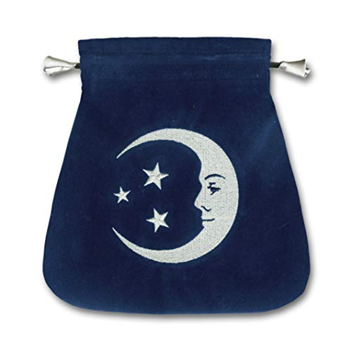 (Smiling Moon Embroidered Tarot Bag)