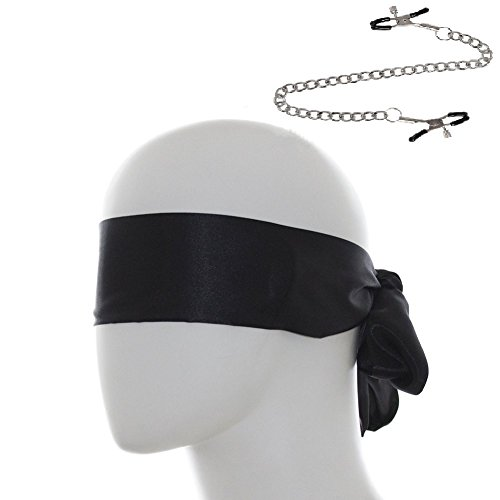 Bondage Blindfold Eye Mask Under The Bed Restraints System Bondage SM Sex Toy Sexy Nipple Clamps Chain Fashion Nipple Jewelry Clips Toys by feifanmall