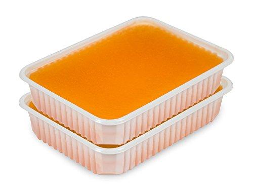 Paraffin Wachs Schalen 2 x 400g Orange