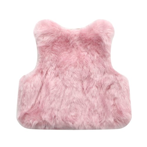 Richie House Girls' Faux Fur Vest with Bow RH0792