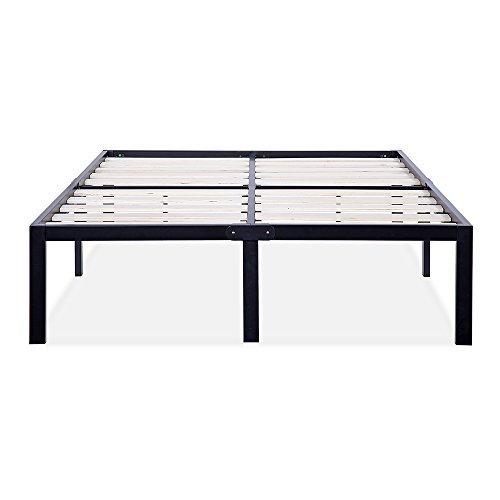 Olee Sleep 14 Inch Tall T-3000 Ultra Wood Slat Steel / Non-Slip Bed Frame 14BF06F