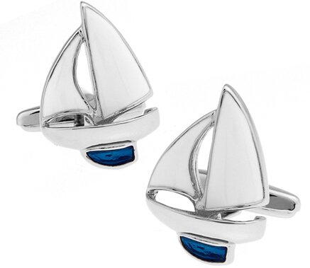 - Cufflinks Sport Anchor Design Brass Material Cuff Links Gift For Seaman blue sailing