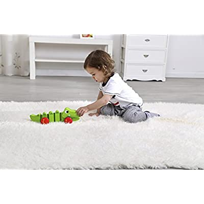 Tooky Toy Crocodile Pull Along: Toys & Games